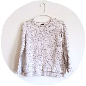 Club Monaco Sweaters - Club Monaco Comfy White/Grey Fitted Sweater