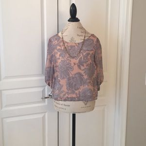 Forever 21 Tops - NWOT Floral and Paisley Bow Back Blouse