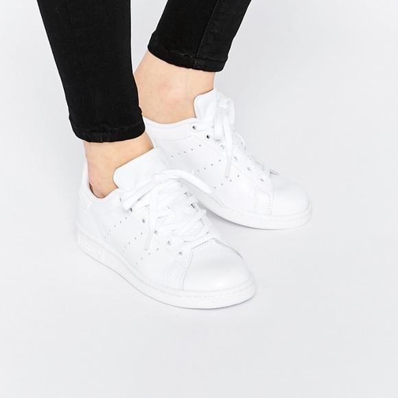 all white stan smith