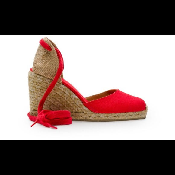 1e350cdd10539 castaner Shoes | Carina Canvas Wedge Espadrilles In Red 8 | Poshmark