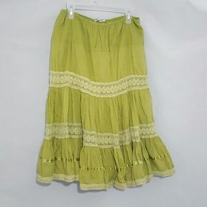 Younique Dresses & Skirts - Boho Green Lacey Skirt