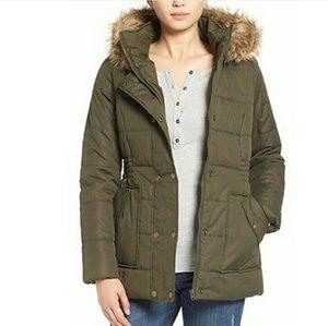 Krush Jackets & Blazers - Krush olive fur trim puffer