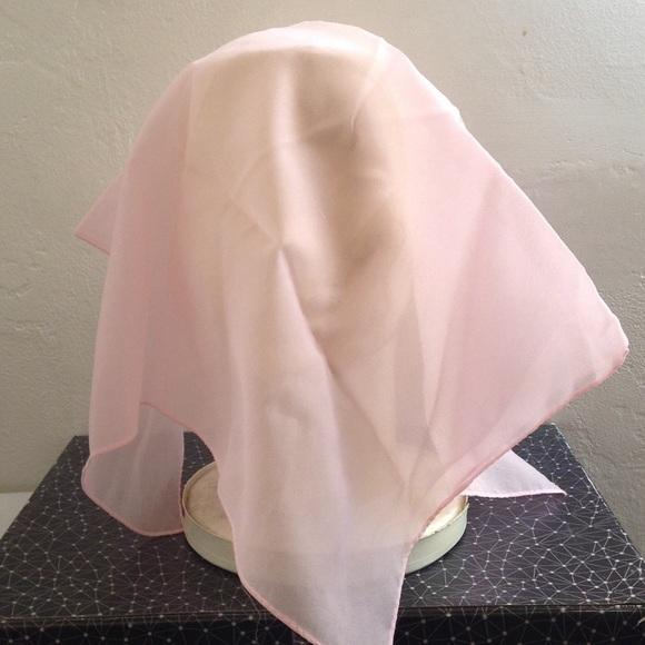 Vintage Accessories - Vintage Pastel Pink Nylon Scarf, Wind Scarves Hair