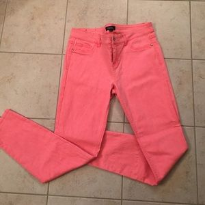 Forever 21 Pants - Neon Coral Skinny Jeans