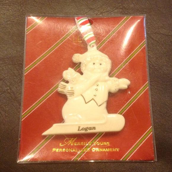 Lenox Other | Personalized Ornament Logan | Poshmark