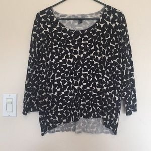 H&M high low heart patterned sweater
