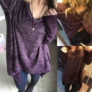 Free People Tops - We the free people split back tunic burnout m