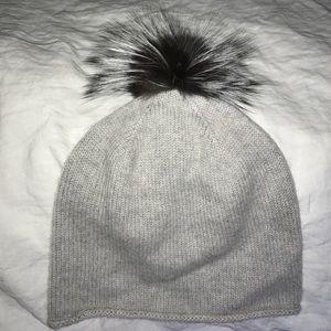 Moncler Accessories - Cashmere fox fur Pom Pom hat