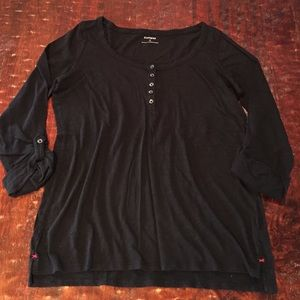 Express Tops - Express 3/4 Sleeve Tee