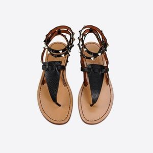 Valentino Rockstud Sandals - Black 40