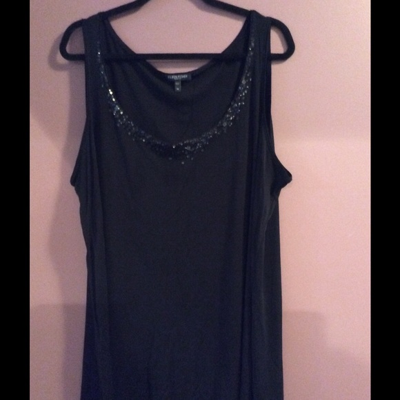 32157c5202c Eileen Fisher Tops - CLEARANCE Eileen Fisher Plus Size Tank Sequins 3X