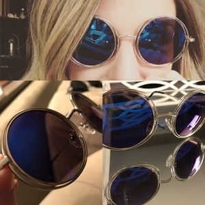 Free People Accessories - New free people mirrored round sunglasses festival