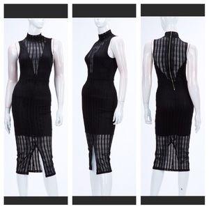 Dresses & Skirts - MIAMI BEACH BOUTIQUE - Mesh Midi Dress