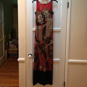 Vintage Vivienne Tam Skeleton Dance prom dress