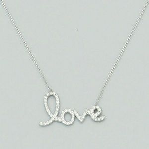Jewelry - Sterling Silver 925 (LOVE)Necklace