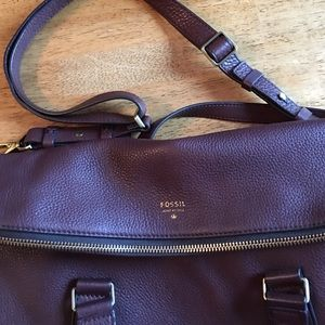 Fossil purse, brown
