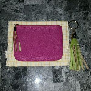 GiGi New York Leather Zip Pouch & Keychain