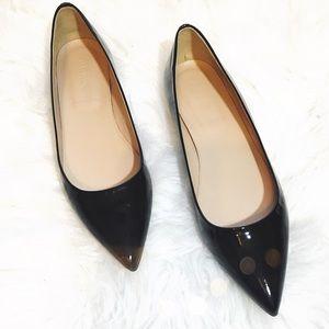 J. Crew Shoes - J. Crew Harper Black Patent Flats