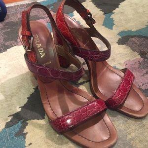 Prada- multicolor snakeskin sandals