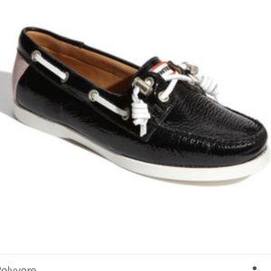Hunter Boots Shoes - Hunter 'Willemberg' Boat Shoe Black/ Soft Pink
