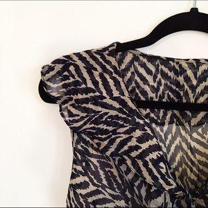 Milly Dresses & Skirts - Milly of New York Silk Ruffle Zebra Print Dress