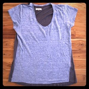 Madewell Linen Timeoff Tee in Colorblock Size Med