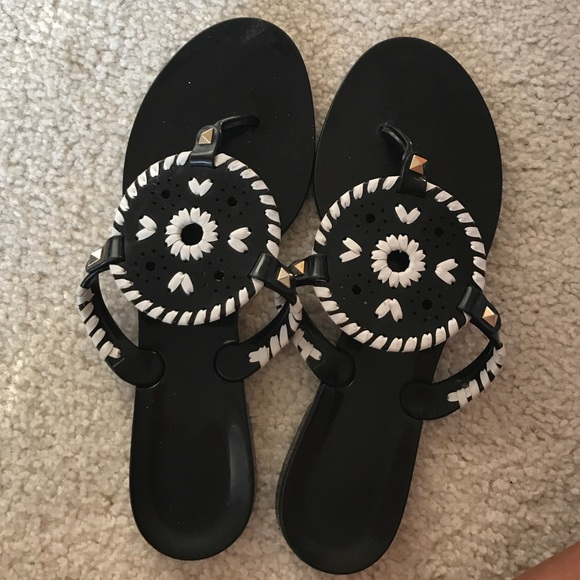 e7e343ce971 Jack Rogers Shoes - Black and white jelly jack rogers sandals