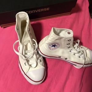 Size 5 high top optical white converse