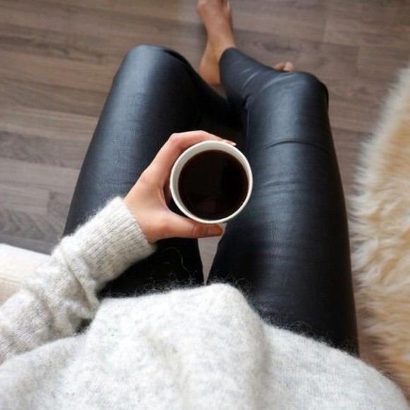 24cb0fd6fc2799 Michael Kors Pants | Black Faux Leather Legging Pant | Poshmark