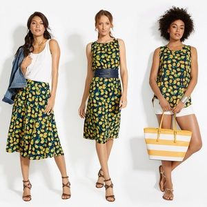 The Limited Dresses & Skirts - The Limited Lemon Printed Midi Dress