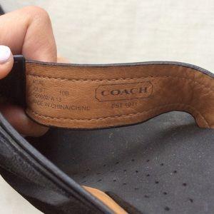 a8e894779484c Coach Shoes - COACH Black Leather Foam Flip Flop Sandals Wedges