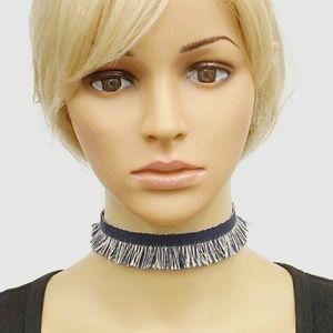 Jewelry - Fringe Denim Choker Necklace