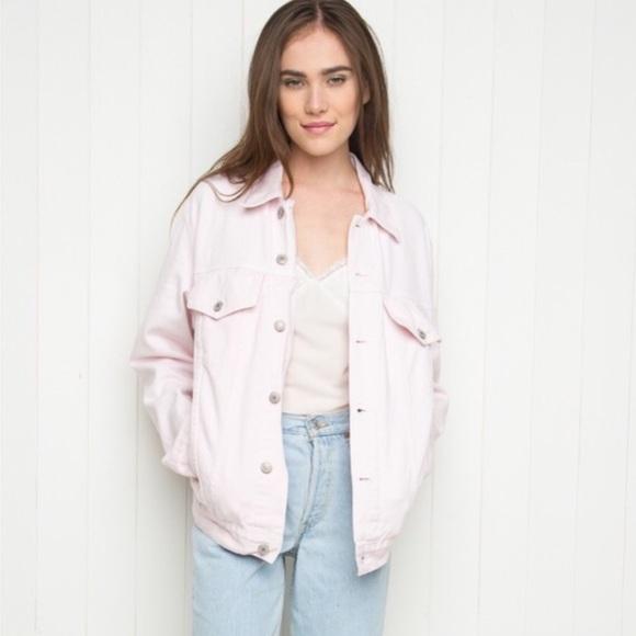 Brandy Melville - BNWT pale pink darling Amara denim jacket from ...