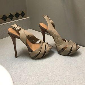 L.A.M.B. Shoes - Tan leather heals