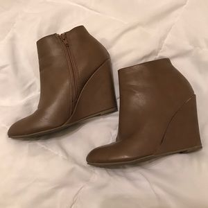 Taupe Faux Leather F21 Booties