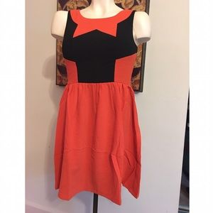 ina  Dresses & Skirts - CLOSET CLEAN OUT•Orange & Black dress•
