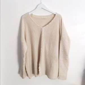 Cream Knitted Luxe Oversized Sweater