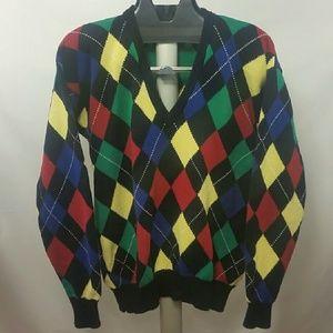 Pringle Other - Men's PRINGLE Argyle Cotton V-Neck Sweater Sz L