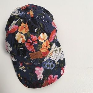 Gorgeous Floral & Faux Leather Stitch Hat