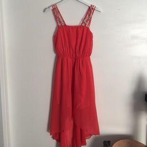 Boheme Dresses - Luxe Coral Hi-Low Dress
