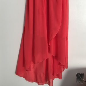 Boheme Dresses - Luxe Coral Hi-Low Dress