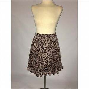 INC leopard pleated skirt