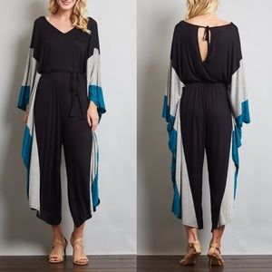 BRENDAN flowy & boho chic jumpsuit - BLUE mix