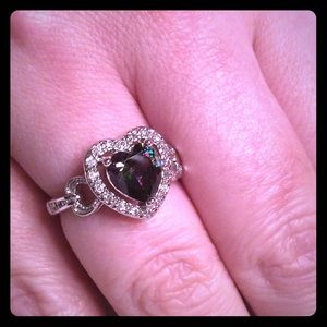 boutique Jewelry - MYSTIC TOPAZ HEART 925 SILVER RING