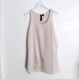 Dresses & Skirts - Cream Asymmetrical Chiffon Mini Dress