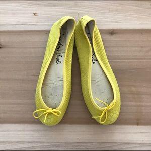 London Sole Shoes - London Sole Yellow Flats