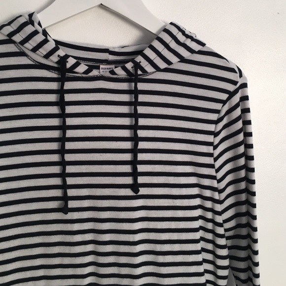 Old Navy Tops - Navy Striped Hoodie