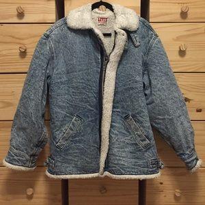 Vintage Levi's Shearling Denim Coat
