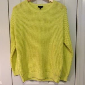 Topshop Sweaters - Topshop Neon Yellow Sweater
