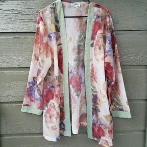 Plus Vintage Floral Kimono